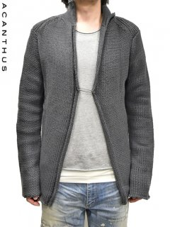 ACANTHUS Uneven Knit Cardigan<img class='new_mark_img2' src='https://img.shop-pro.jp/img/new/icons38.gif' style='border:none;display:inline;margin:0px;padding:0px;width:auto;' />