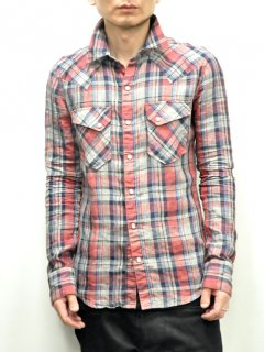 wjk Western Check Shirt<img class='new_mark_img2' src='//img.shop-pro.jp/img/new/icons20.gif' style='border:none;display:inline;margin:0px;padding:0px;width:auto;' />