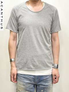 ACANTHUS Cut Out T Shirt 4-quarter Sleeves