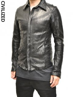 CIVILIZED Regurar Collar Leather Jacket<img class='new_mark_img2' src='https://img.shop-pro.jp/img/new/icons38.gif' style='border:none;display:inline;margin:0px;padding:0px;width:auto;' />