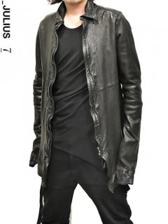 _JULIUS Leather Shirt Jacket