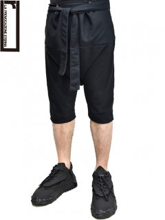 r Layered Pants Black