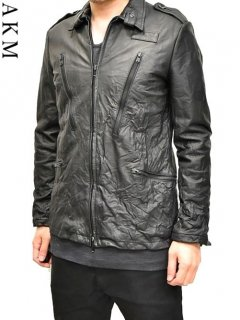 AKM Leather Military Shirts Jacket<img class='new_mark_img2' src='https://img.shop-pro.jp/img/new/icons38.gif' style='border:none;display:inline;margin:0px;padding:0px;width:auto;' />