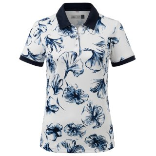 WOMEN ENYA PRINTED POLO S/S