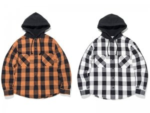 "<img class='new_mark_img1' src='https://img.shop-pro.jp/img/new/icons8.gif' style='border:none;display:inline;margin:0px;padding:0px;width:auto;' />BOWWOW ""GRIND"" FLANNEL HOODIE SHIRTS"