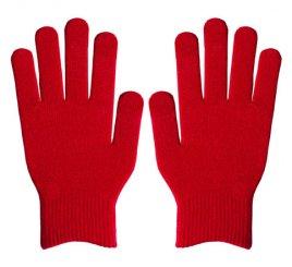 ダブルリブ手袋(男女兼用サイズ) 赤