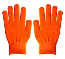 ダブルリブ手袋(男女兼用サイズ) オレンジ