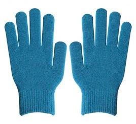 ダブルリブ手袋(男女兼用サイズ) シアン