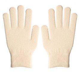 ダブルリブ手袋(男女兼用サイズ) オフホワイト