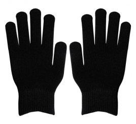 ダブルリブ手袋(男女兼用サイズ) 黒
