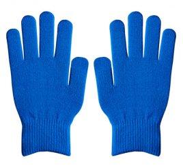 ダブルリブ手袋(男女兼用サイズ) 青