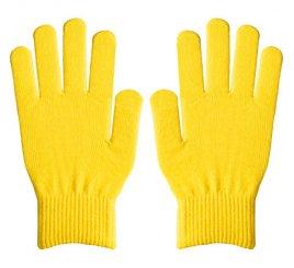 ダブルリブ手袋(男女兼用サイズ) レモンイエロー