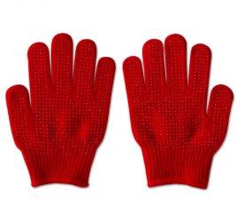のびのび手袋 赤 すべり止め付き 【受注生産(6営業日以内出荷)】