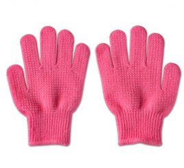 のびのび手袋 ピンク すべり止め付き 【受注生産(6営業日以内出荷)】