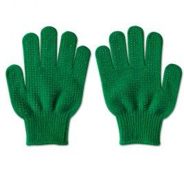 のびのび手袋 緑 すべり止め付き 【受注生産(6営業日以内出荷)】
