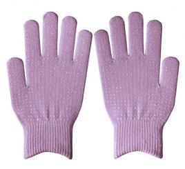 ダブルリブ手袋(男女兼用サイズ) ラベンダー すべり止め付き【大量注文のみ・在庫限り終了】