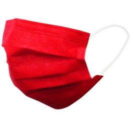 カラーマスク 赤 日本製(不織布マスク)