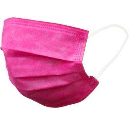カラーマスク ピンク 日本製(不織布マスク)
