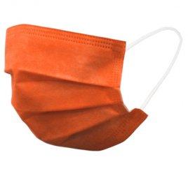 カラーマスク オレンジ 日本製(不織布マスク)