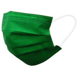 カラーマスク 緑 日本製(不織布マスク)