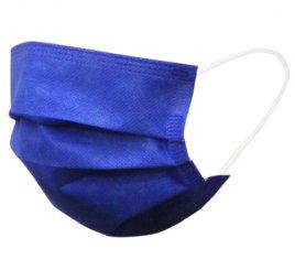 カラーマスク 青 日本製(不織布マスク)