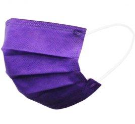 カラーマスク 紫 日本製(不織布マスク)