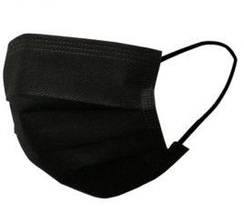 カラーマスク 黒 日本製(不織布マスク)