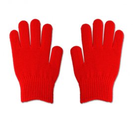 のびのび手袋 赤 1組