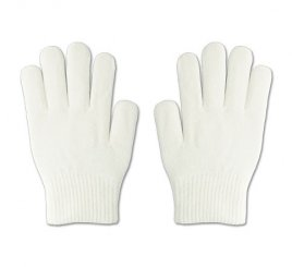 のびのび手袋 白 1組