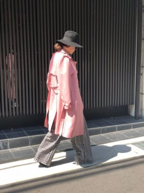 TANDEM(FRANCE)<br/>FR TRENCH COAT<br/>PINK