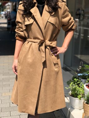 TANDEM(FRANCE)<br/>FR TRENCH COAT<br/>CAMEL