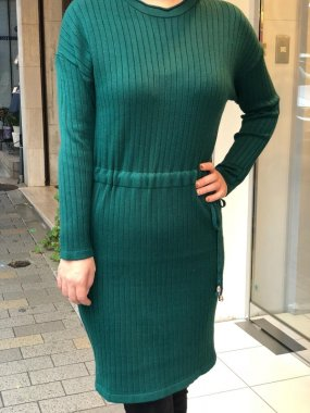 AmelieFolies(ITALY)<br/>KNITO DORESS<br/>GREEN<br/>