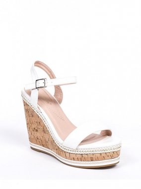 SANDALS(France)<br/>WEDGESOLE WHITE