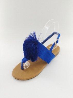 ポンポントングサンダル<br/>BLUE<br/>