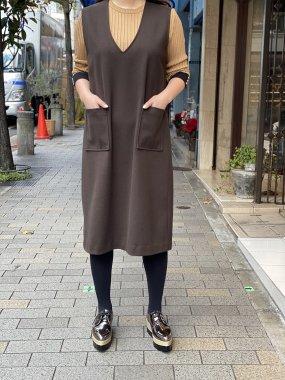 Chris(Japan)<br/>ジャンパースカート<br/> BROWN<br/>Mサイズ