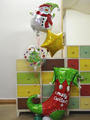 【E27】 スノーマン・スター・ツリー・クリスマスブーツのバルーン