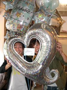 【L1】 開店・開業・周年記念のお祝いに!セレブレーションシャンパンボトルのバルーンブーケ