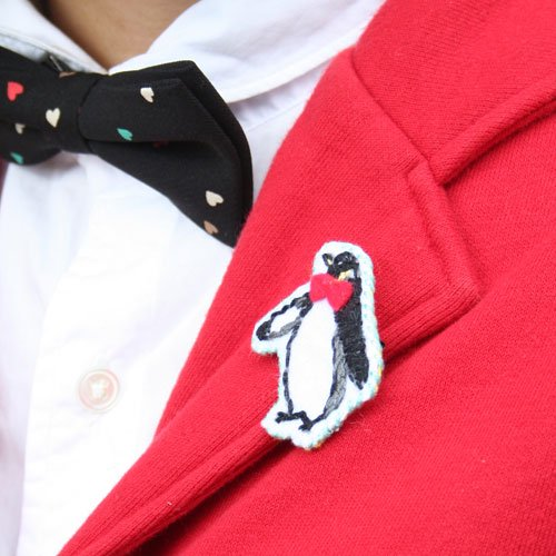 ペンギンブローチ
