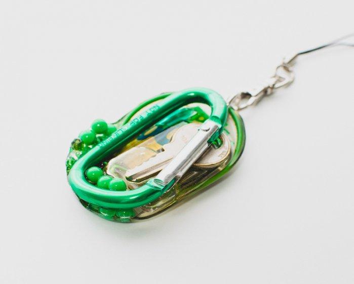 アメリカン鍵のオリジナルストラップ(緑マニア)