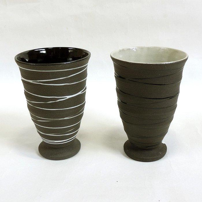 美濃焼フリーカップ クロウ コブレットペア