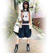 70%OFF【Acryl-CANDY】「街から来た少女」ヴォズドゥシュニィ チェックバルーンスカート(グリーン)