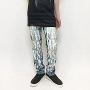 【Acryl-agitt】 ブリーチ×プリント デニム