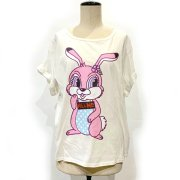 15%OFF【Acryl BONES】KILL ME BUNNY (SMILE) ロールアップTsh(WH)