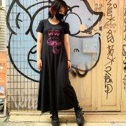 10%OFF【アニマル・バルーン】KINOKOの王様 半袖カットソーマキシワンピ(BK×PK)