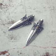 別注【Guardia】Arrowhead ペンダント(シャンパンジルコニア・チェーン付)
