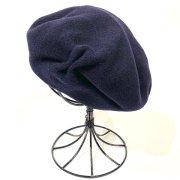 45%OFF【バラ色の帽子】1963 no CHAPEAUX DE PARIS/ 手びねりベレー(ネイビー)