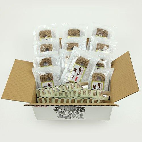 創麺屋 半生麺・手のべ半生そば3.0kg 【つゆ付】