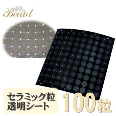 ジルコニアファインセラミック粒透明シール(100粒タイプ)