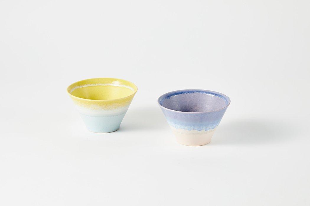 パステル ジュレ - 入れ子鉢 yellow×blue
