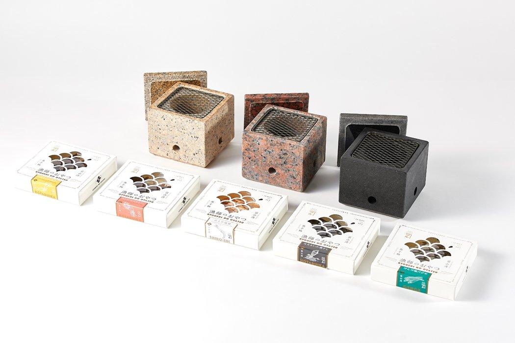 【メーカー直送商品】石乃炙り鉢  / Sサイズ  漁師のおやつセット